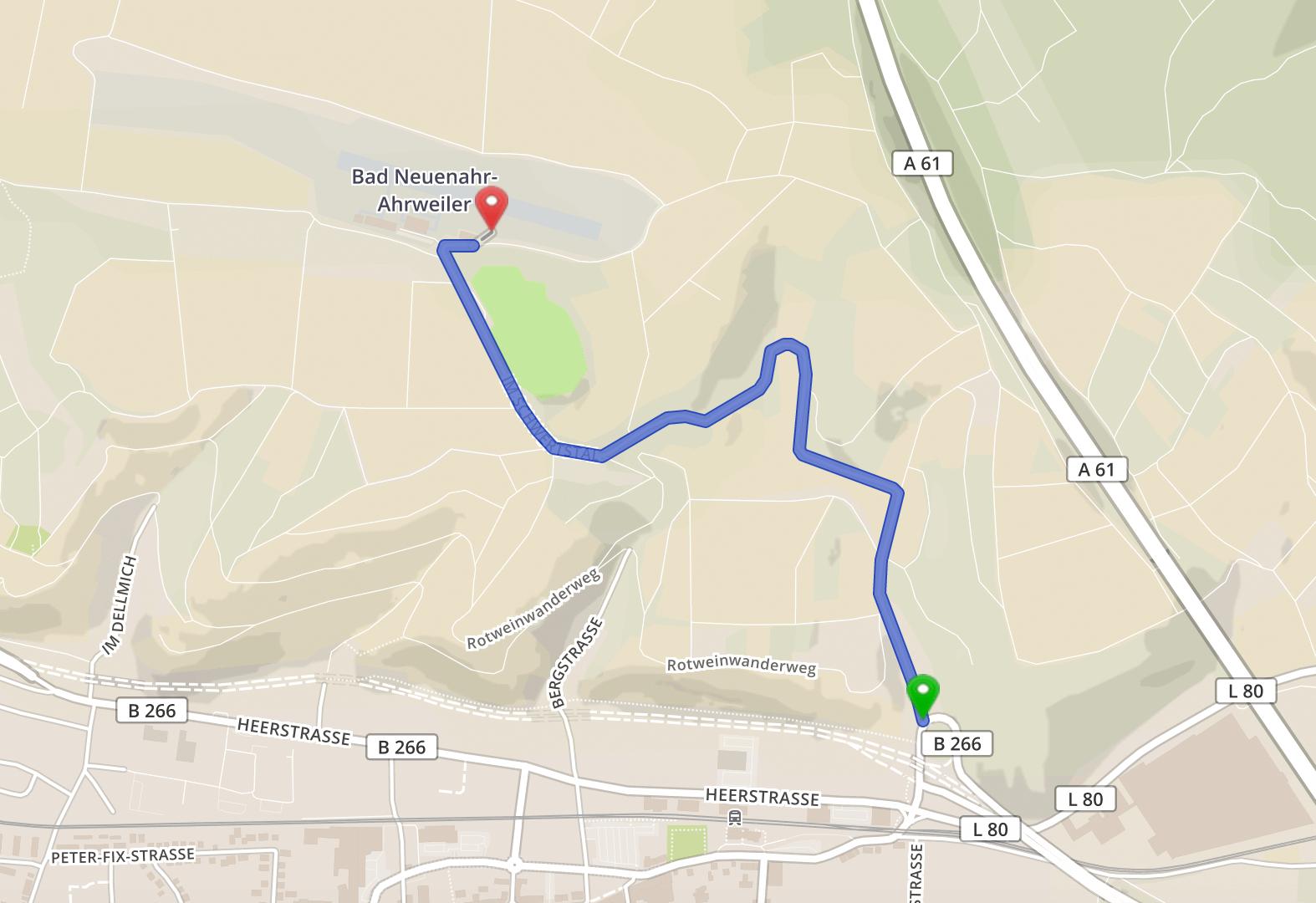 Wegbeschreibung und Zufahrt zur Heidestube in Bad Neuenahr